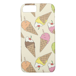 Ice cream pattern iPhone 7 case