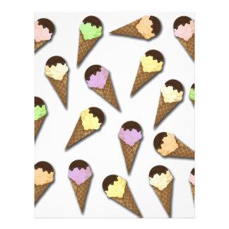 Ice cream pattern letterhead template
