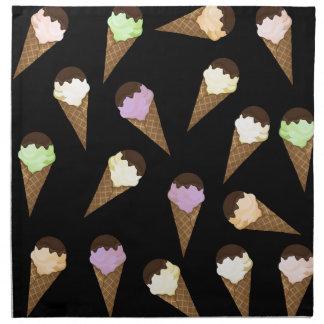 Ice cream pattern napkin