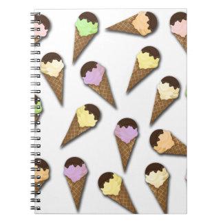 Ice cream pattern note books