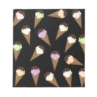 Ice cream pattern notepad