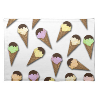 Ice cream pattern placemats