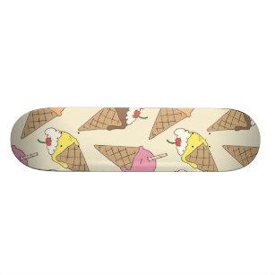 Ice cream pattern skateboard