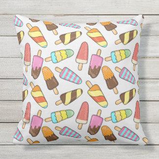 Ice Cream Pattern throw pillows
