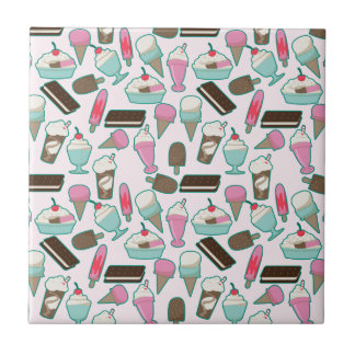 Ice cream pattern tile