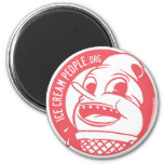 "Ice Cream People ""retro logo"" 2 Inch Round Magnet"