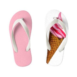 ice cream pink flip-flop kid's flip flops