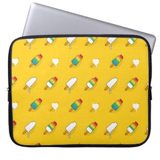 Ice cream pop art cool bright rainbow pattern laptop sleeve