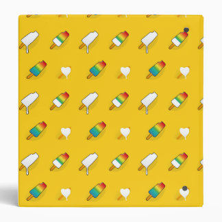 Ice cream pop art cool bright rainbow pattern vinyl binders