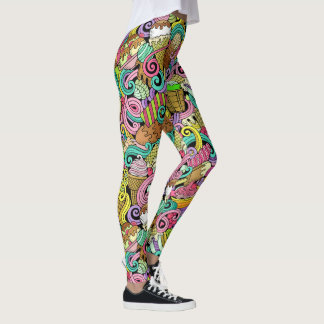 Ice Cream Pop Fashion Leggings