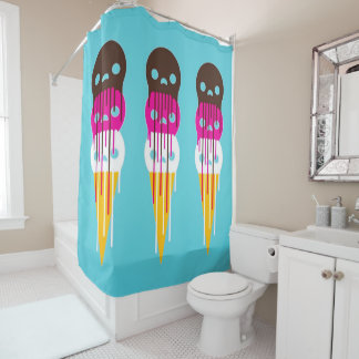 ice cream pop shower curtain