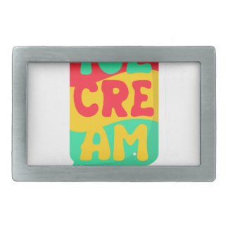 Ice-cream Rectangular Belt Buckles