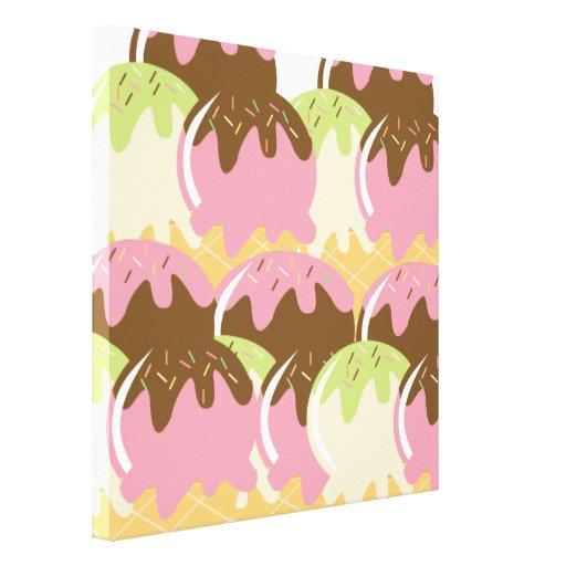 Ice Cream Scoops Canvas Print