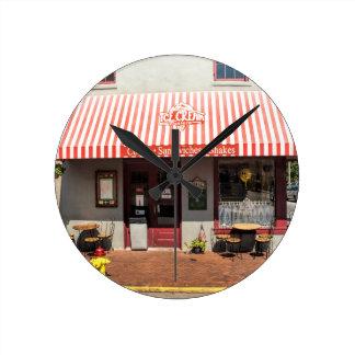 Ice Cream Shop Downtown Savannah Wall Clocks