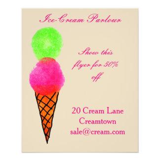 Ice-cream shop Ice cream parlour advertisement Flyer