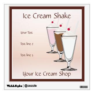 Ice Cream Shop Ice Cream Shake Wall Decal