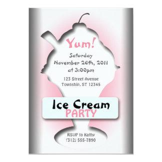 """Ice Cream Silhouette Party Invitations 5"""" X 7"""" Invitation Card"""