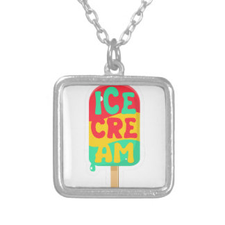 Ice-cream Silver Plated Necklace