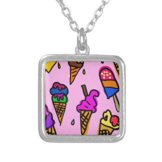Ice Cream Silver Plated Necklace