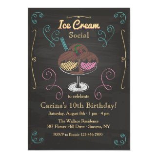 Ice Cream Social Invitation