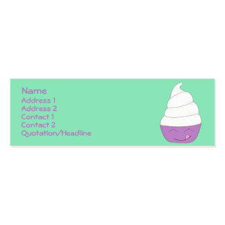 Ice Cream Social profile card Pack Of Skinny Business Cards