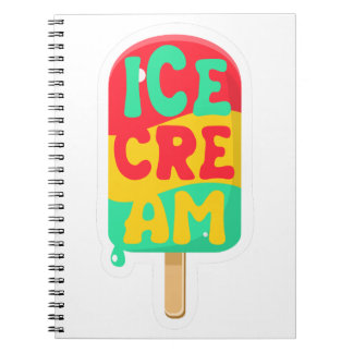 Ice-cream Spiral Notebook