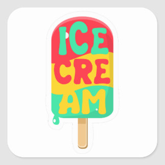 Ice-cream Square Sticker