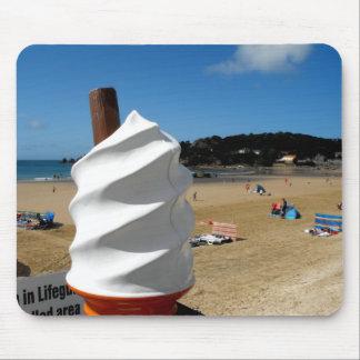 Ice Cream St Brelade's Beach Mouse Pad