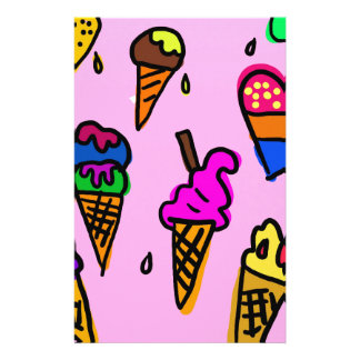 Ice Cream Stationery