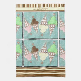 Ice Cream Stripe Towel