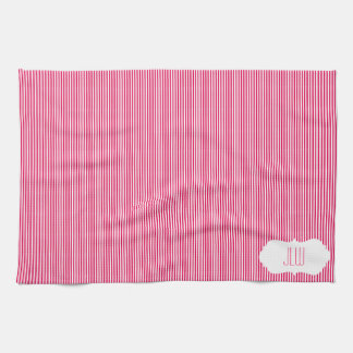 Ice Cream Stripes with Monogram Kitchen Towels
