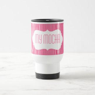 Ice Cream Stripes with Monogram Travel Mug