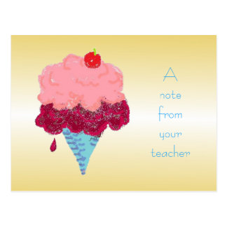 Ice Cream Student Welcome From Teacher Postcard