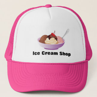 Ice Cream Sundae Bowl Trucker Hat