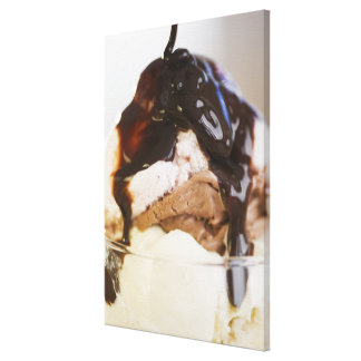Ice cream sundae canvas prints