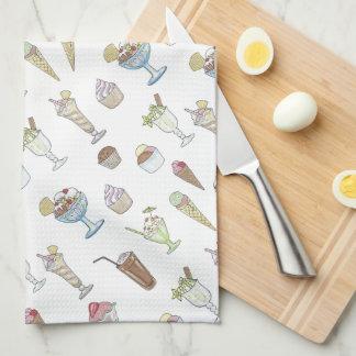 Ice Cream Sundae Collage Kitchen Towel