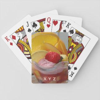 Ice Cream Sundae custom monogram playing cards