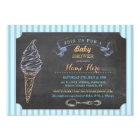 Ice Cream Sweet Baby Shower Chalk Stripe Invite