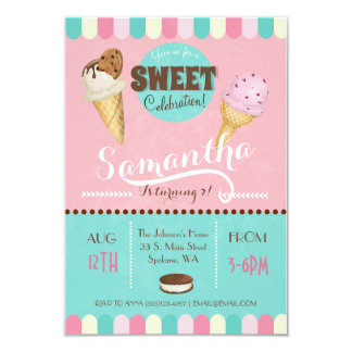 Ice Cream Sweet Birthday Party Invite