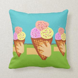 ice cream tentation throw pillow