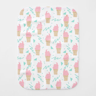 Ice Cream Triangle Pastel Pink / Andrea Lauren Baby Burp Cloths