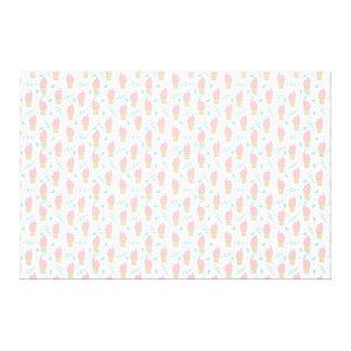 Ice Cream Triangle Pastel Pink / Andrea Lauren Canvas Print
