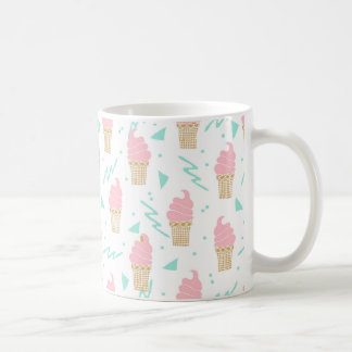 Ice Cream Triangle Pastel Pink / Andrea Lauren Coffee Mug
