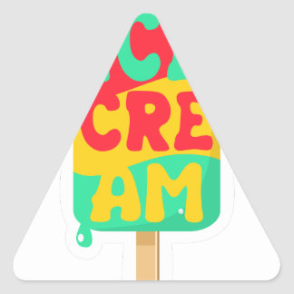 Ice-cream Triangle Sticker