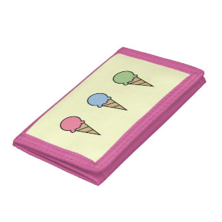 Ice Cream Trifold Wallet
