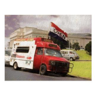 Ice cream truck at Auckland Domain Postcard