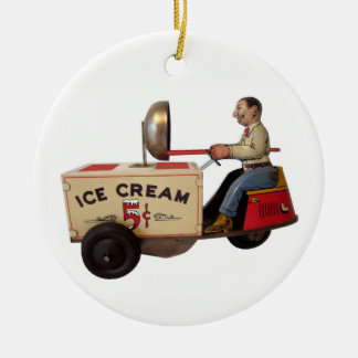 Ice Cream Truck Ceramic Ornament