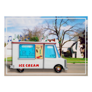 Ice Cream Truck in the Street Poster