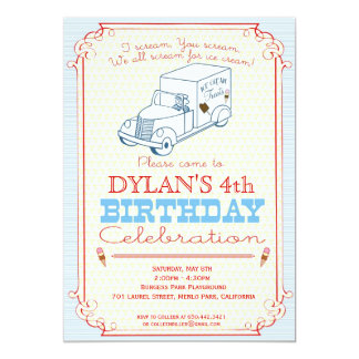 Ice Cream Truck Party Invitation