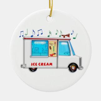 Ice Cream Truck with Music Ceramic Ornament